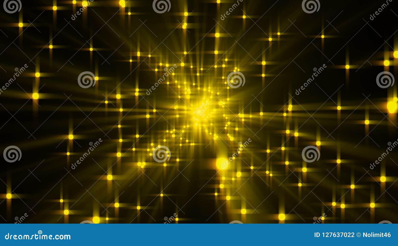 Explosionen av stjärnor med glans och linjer, 3d framför datoren frambragda bakgrunden