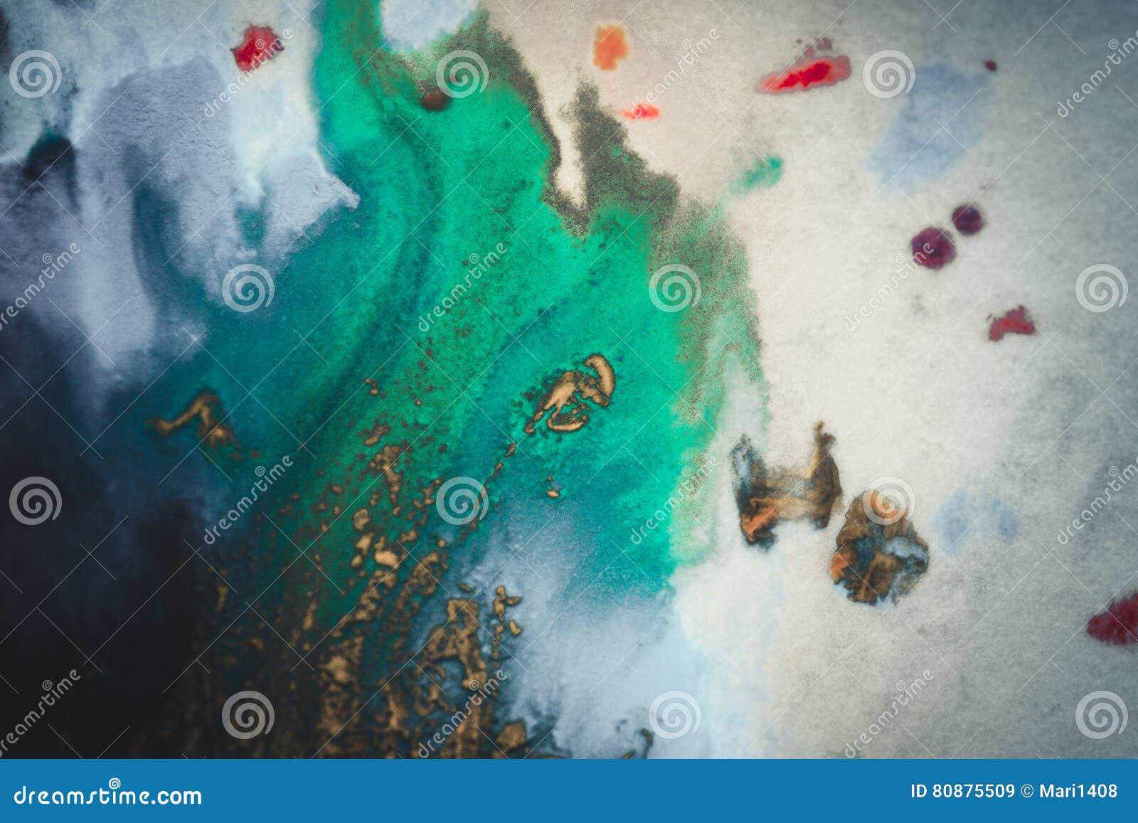 Explosiones de la pintura multicolora