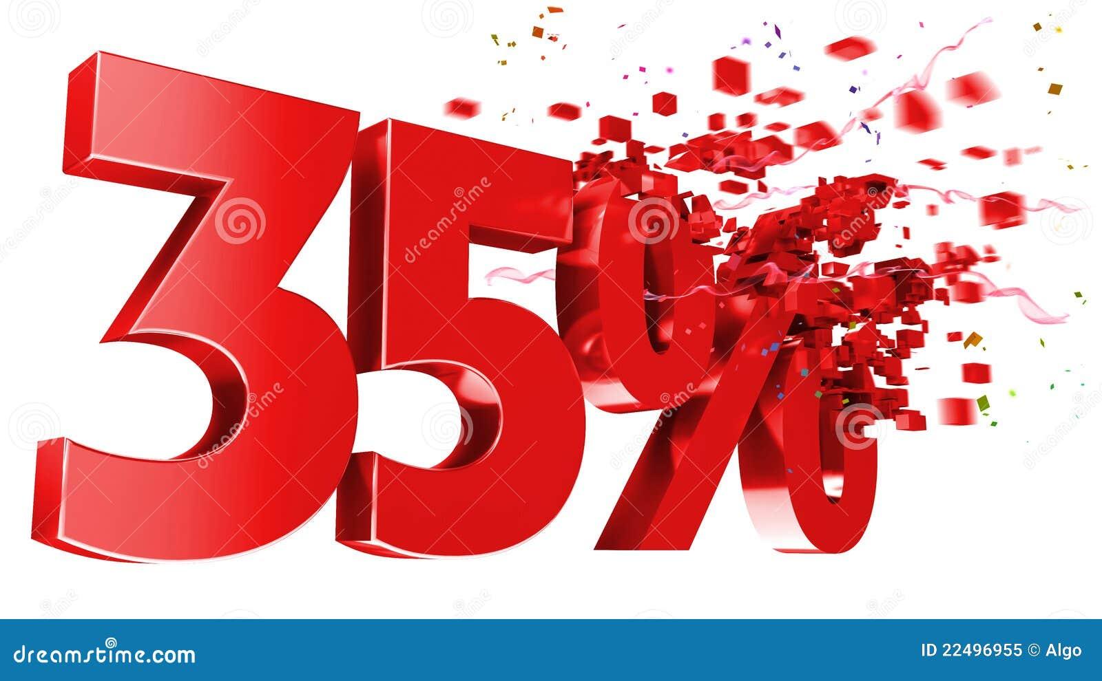 explosive 35 percent off on white background stock illustration illustration 22496955. Black Bedroom Furniture Sets. Home Design Ideas