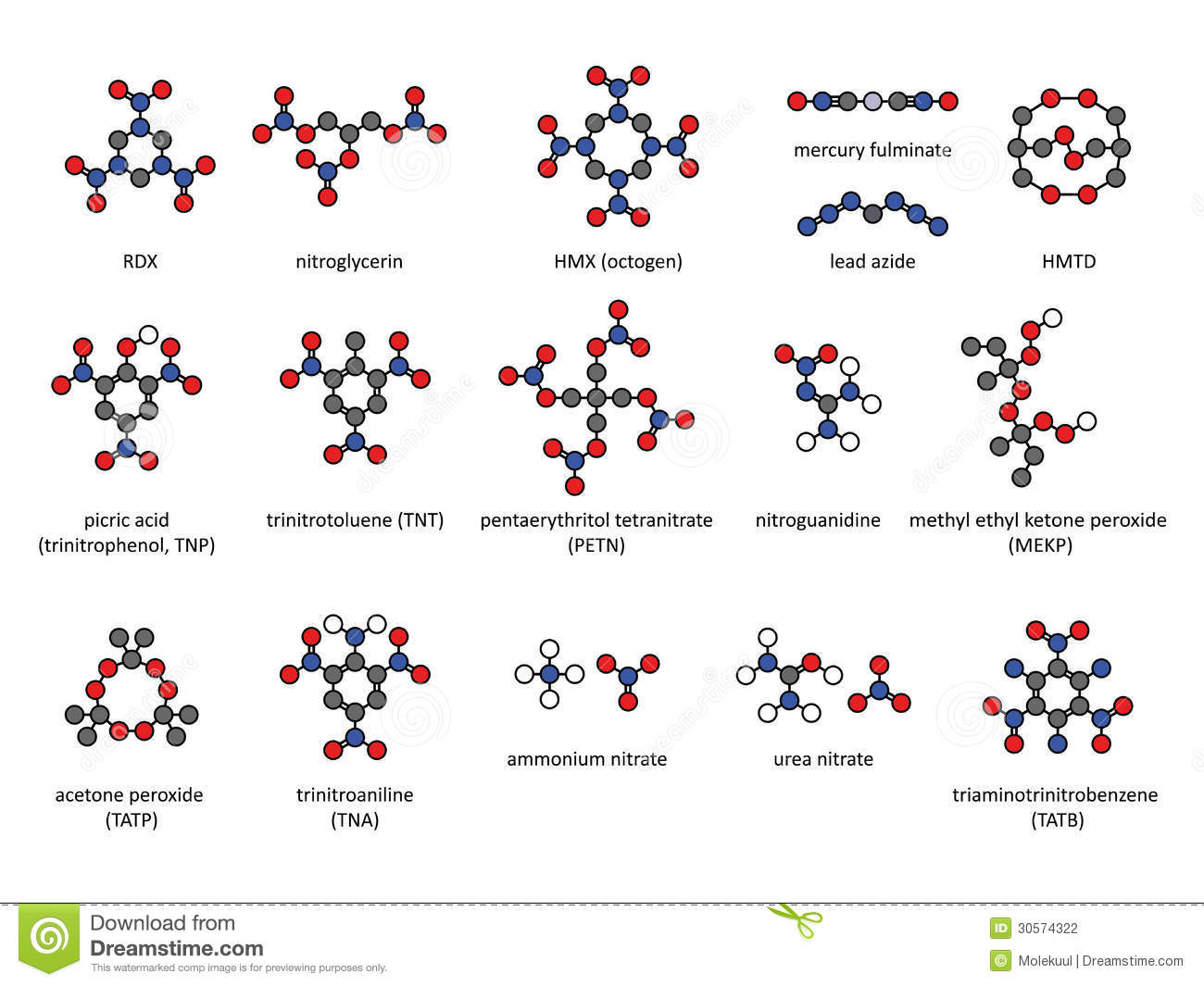 Stock Photography Explosive Compounds D Chemical Structures Set Atoms Represented As Conventionally Color Coded Circles Included Image30574322 on Elements Compounds And Mixtures Worksheet
