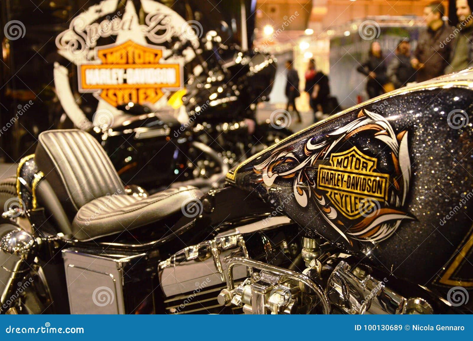 Expo della bici del motore, motocicletta Harley Davidson