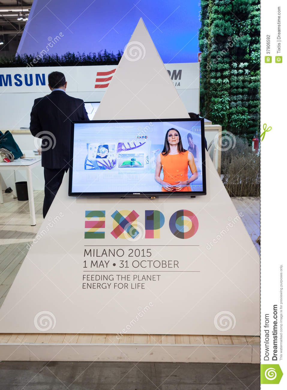 Expo 2015 Logo At Bit 2014, International Tourism Exchange ...
