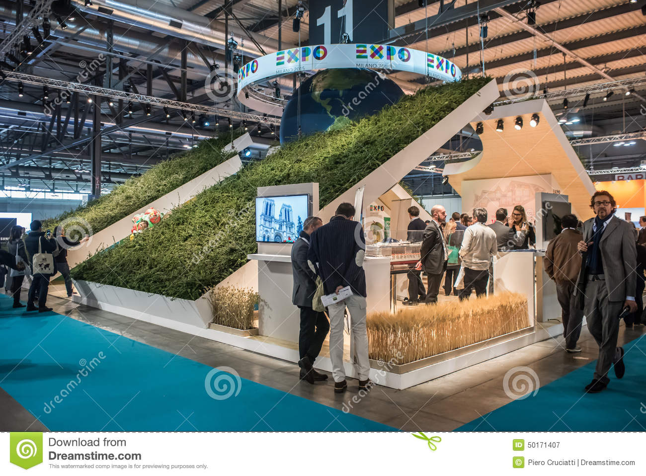 Expo Stands 2015 : Expo milano stand at bit in milan italy editorial