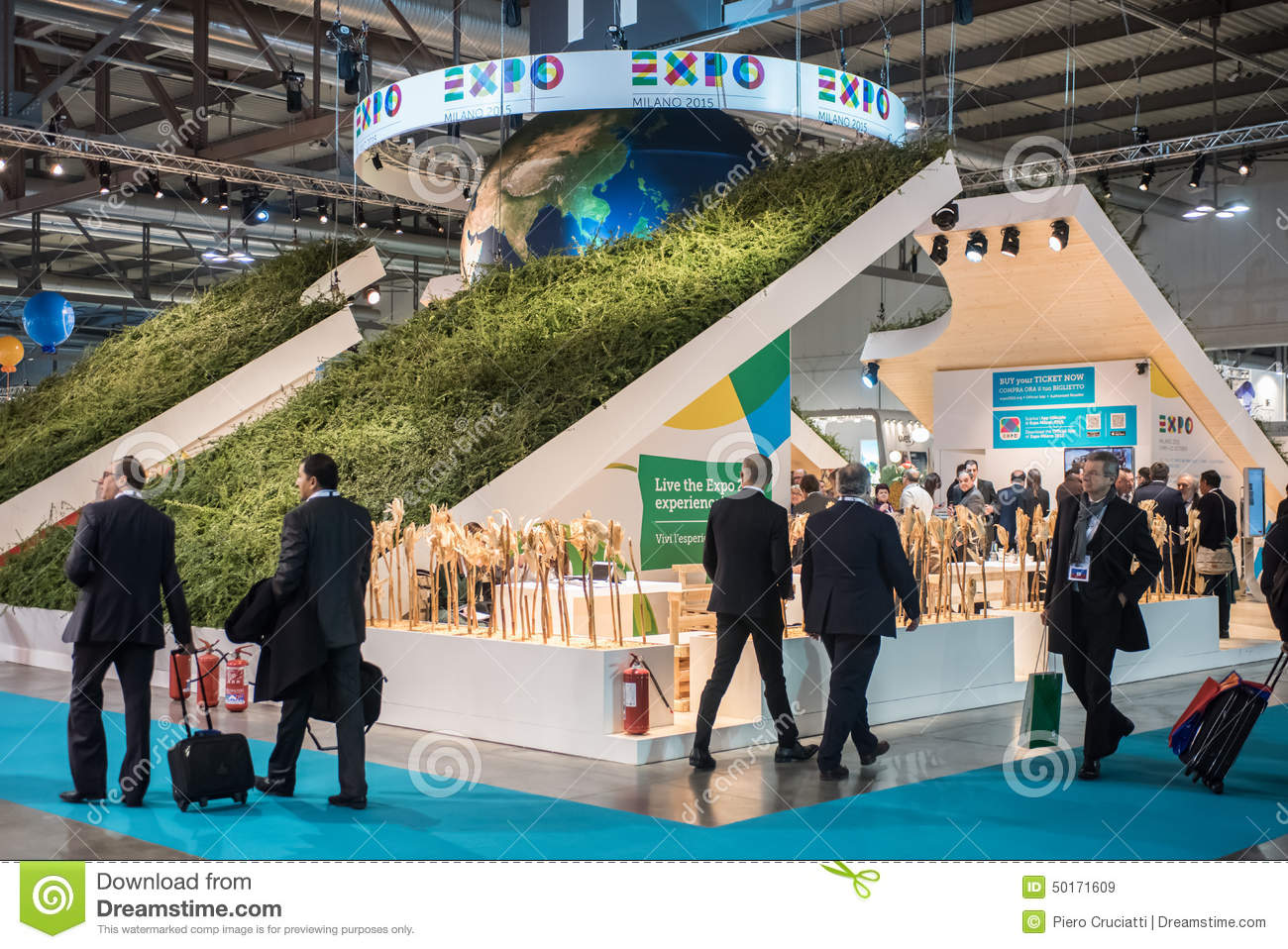 Expo Milan Stands : Expo stand at bit milan italy editorial stock image