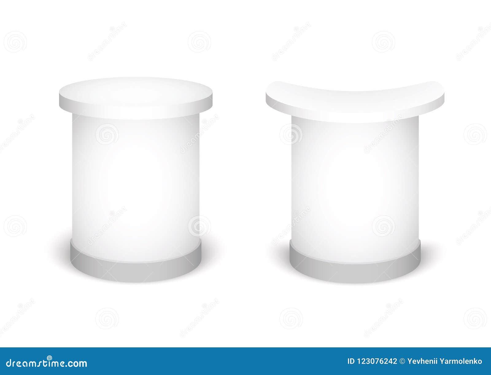 Expo-tribune op een witte achtergrond Spot op Malplaatje voor Uw Ontwerp Vector illustratie