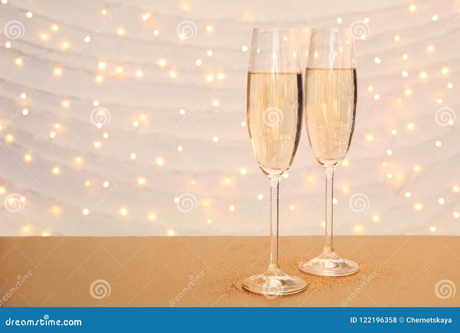 Exponeringsglas av champagne