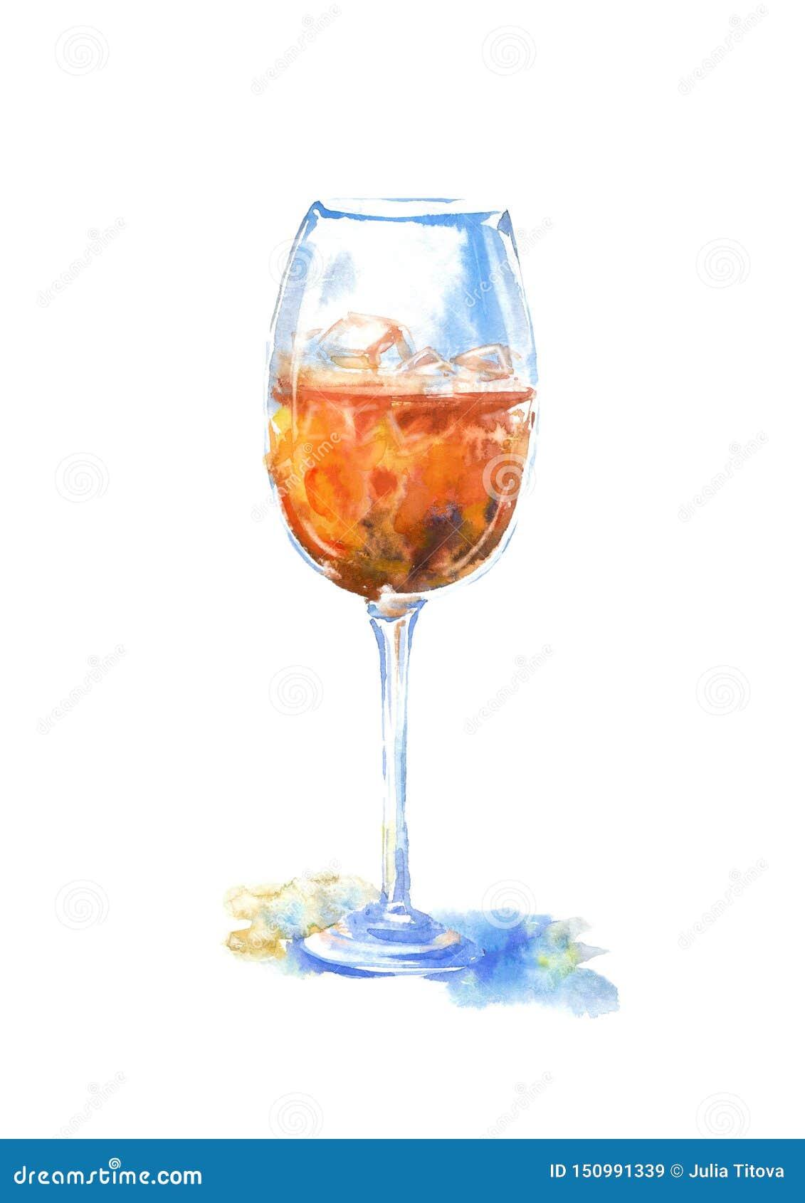 Exponeringsglas av en whisky och en is Bild av en alkoholdryck