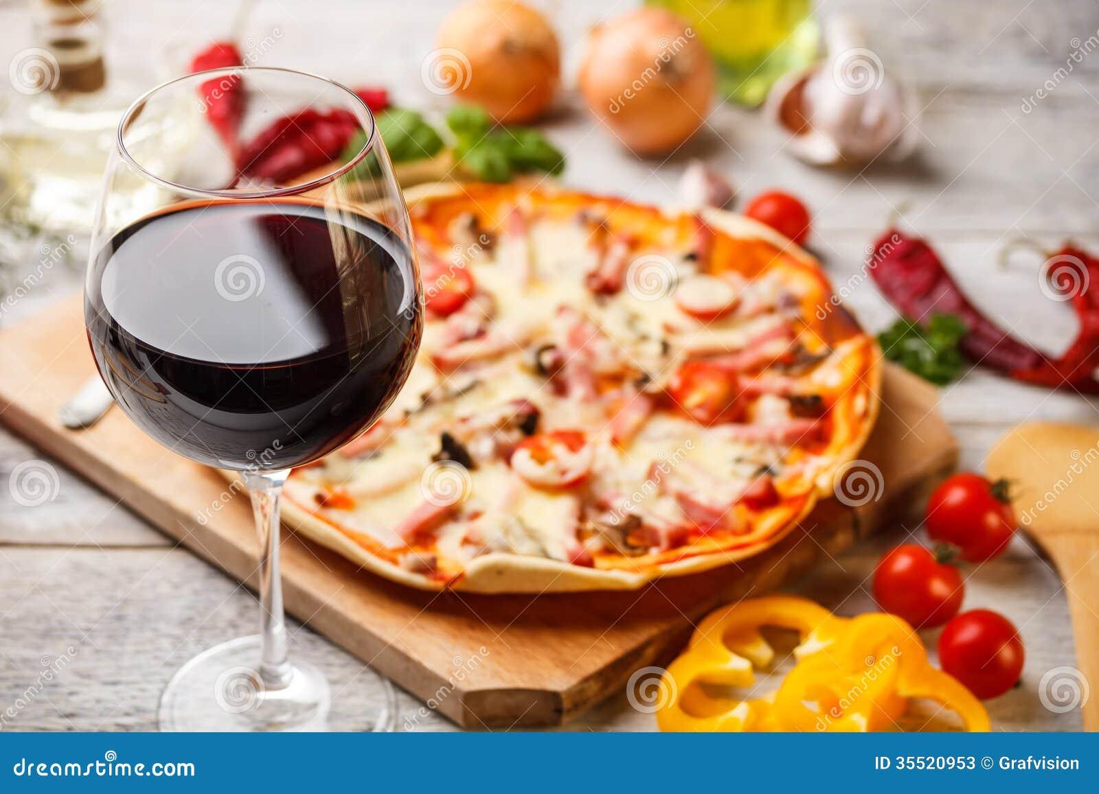 Exponeringsglas av rött vin
