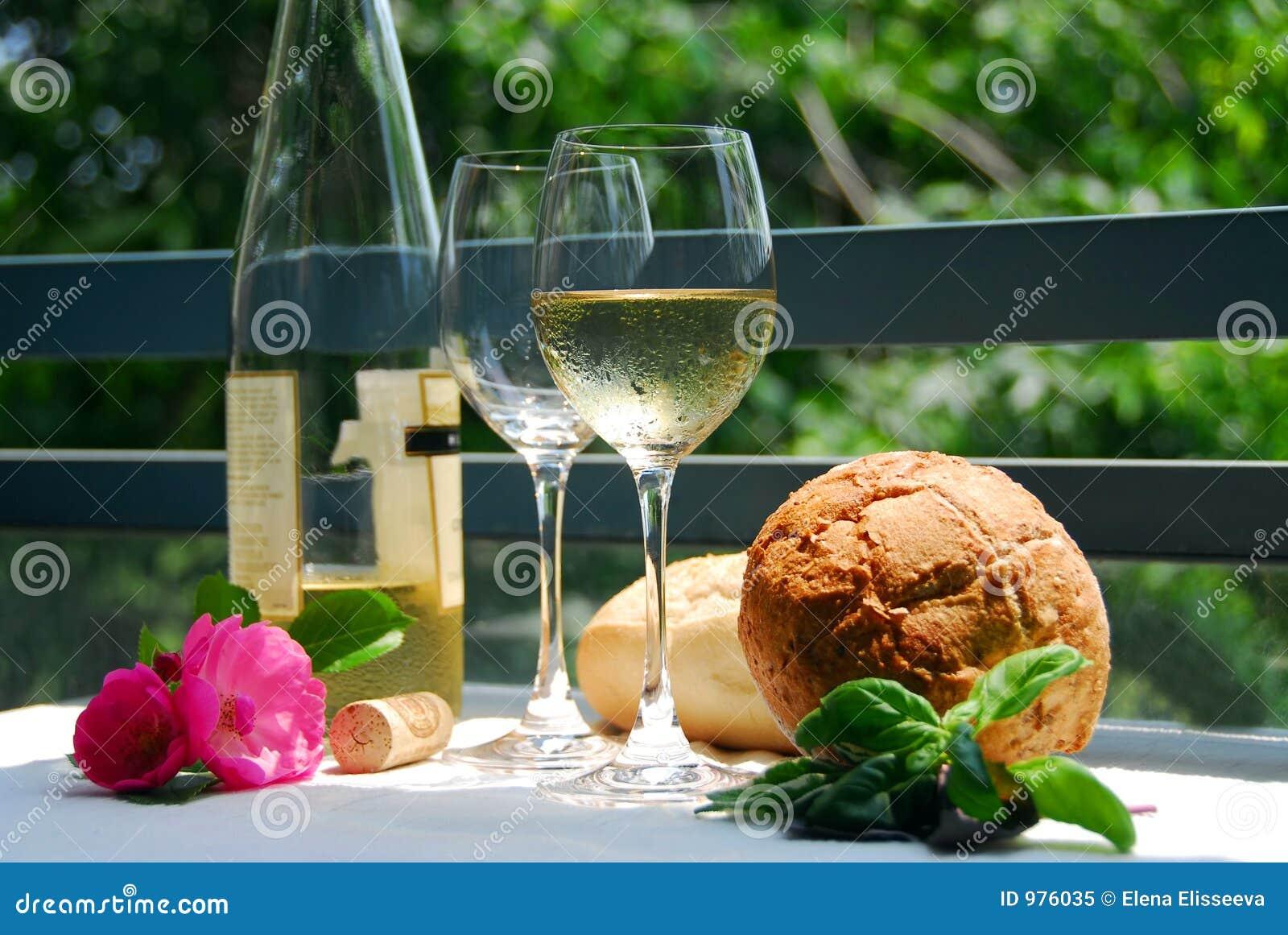 Exponeringsglas utanför vit wine