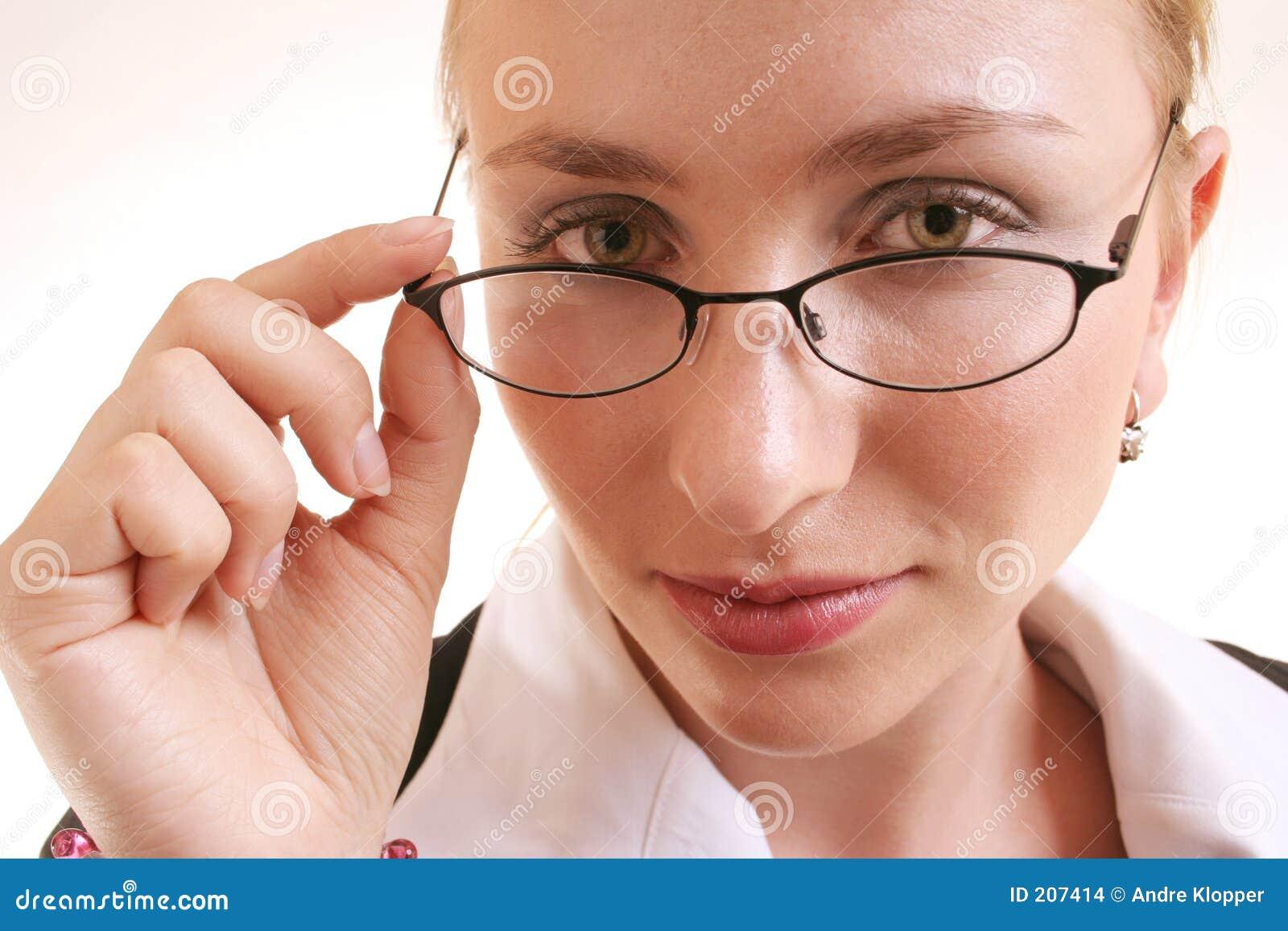 Exponeringsglaskvinna
