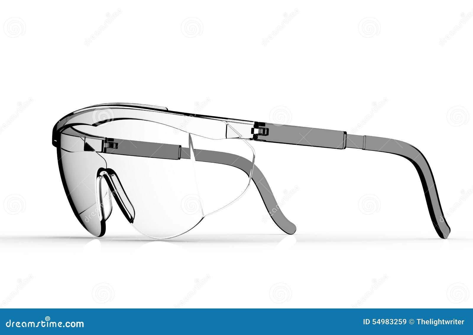 Exponeringsglassäkerhet som isoleras på en vit tillbaka, grundar