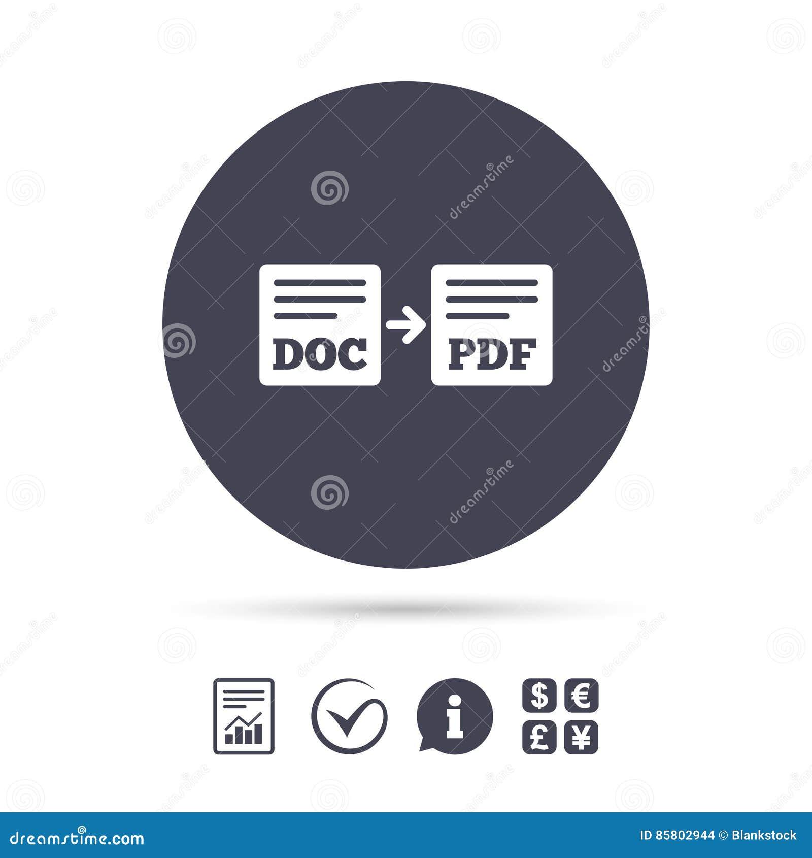 Exportação DOC ao ícone do pdf Símbolo do original do arquivo