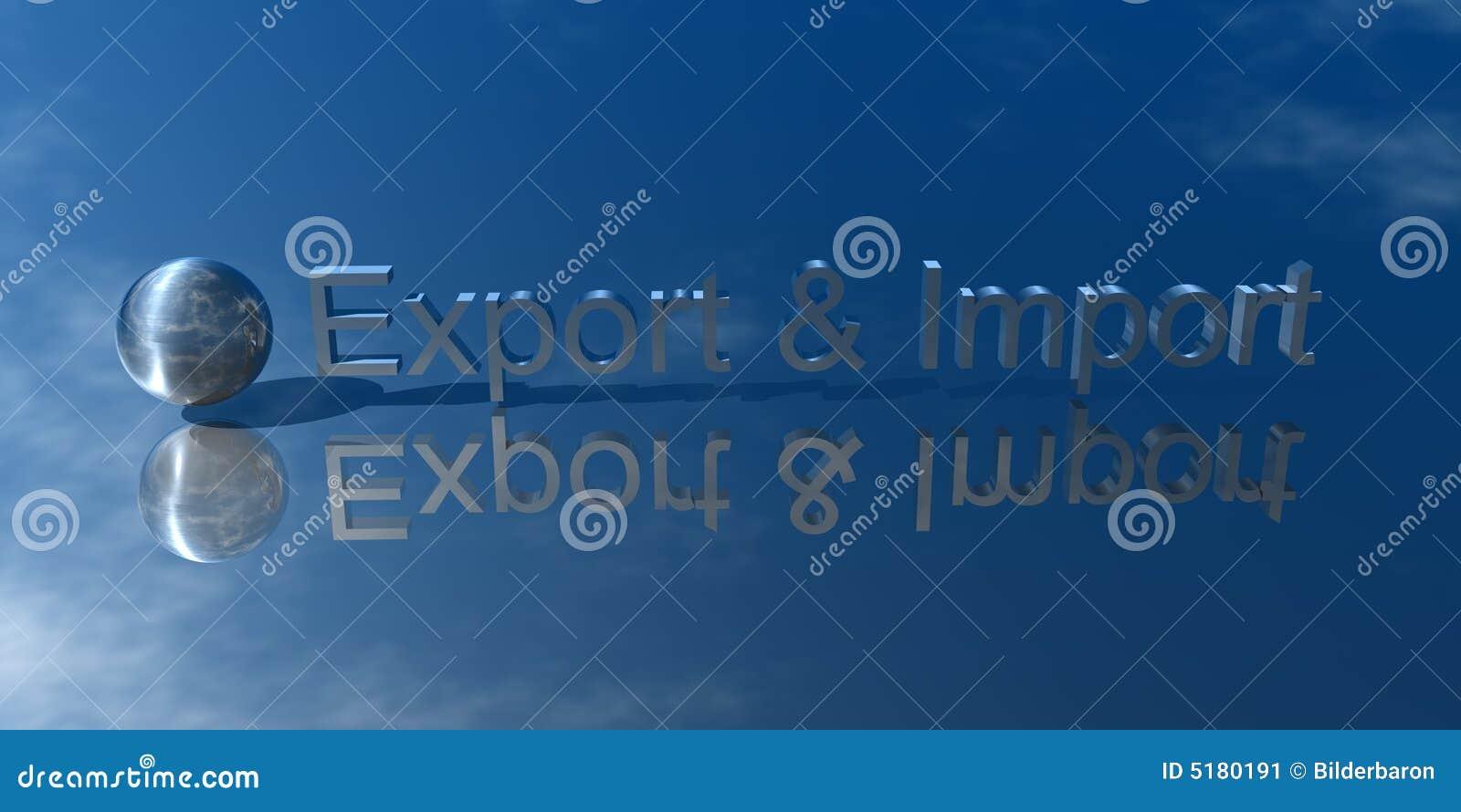 Exportación e importación stock de ilustración. Ilustración de ...