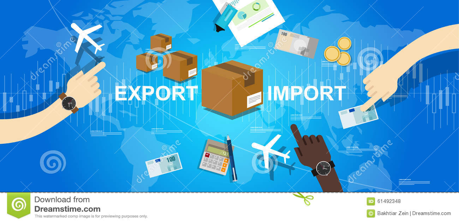 Exportimportglobaler Geschäftsweltkarte-Markt International