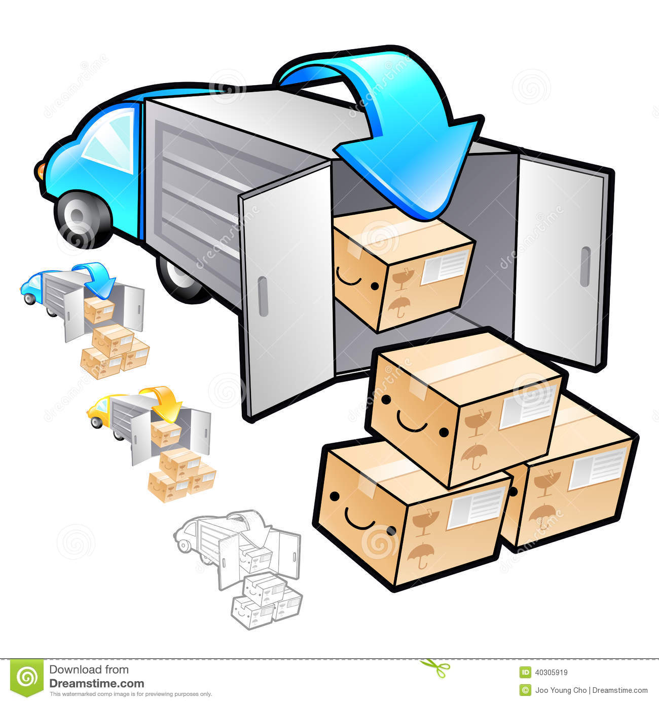 Exports Of Goods Illustration. Product And Distribution ...