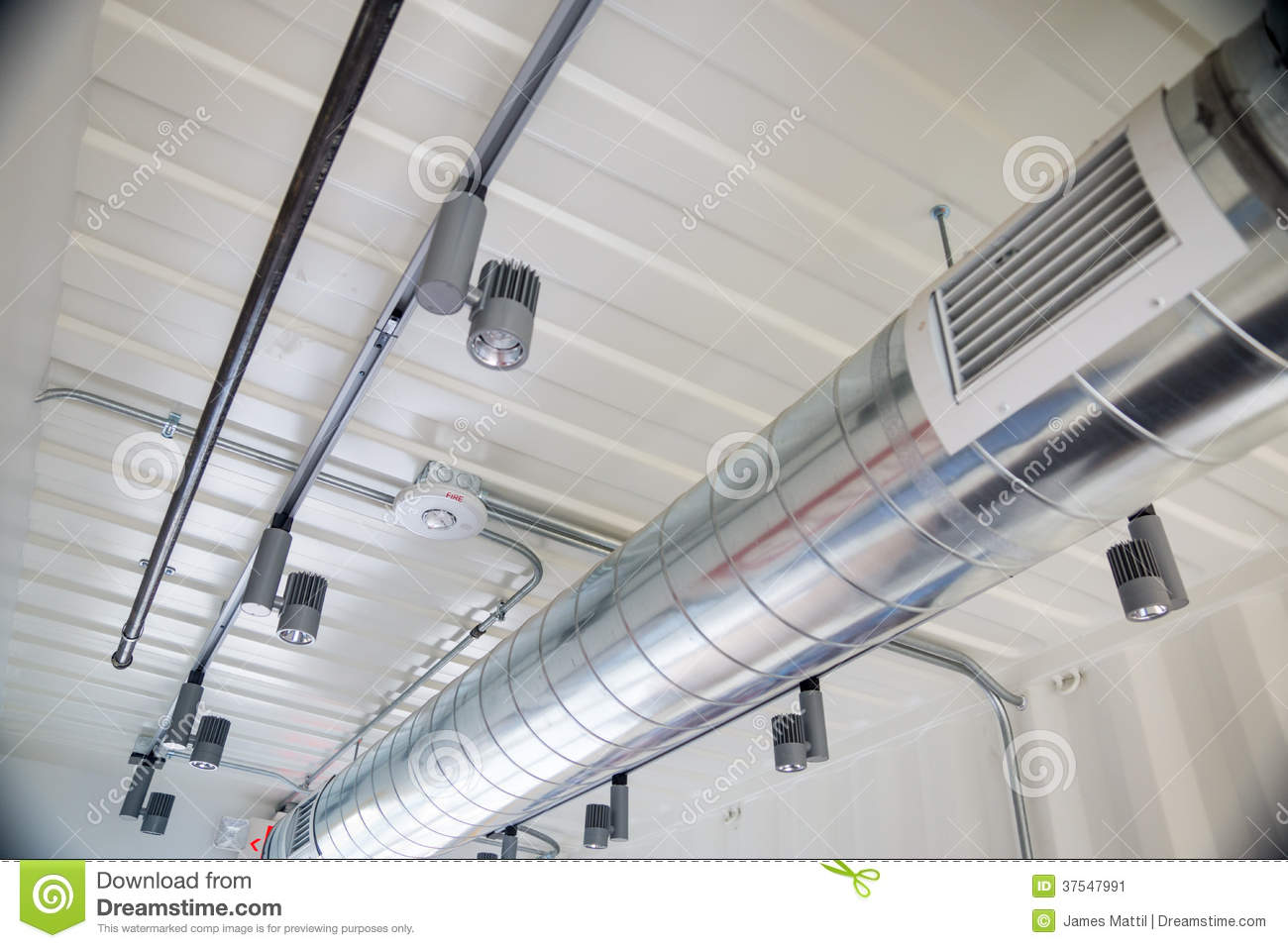 Exposed ductwork in design stock image image 37547991 for Office ventilation design