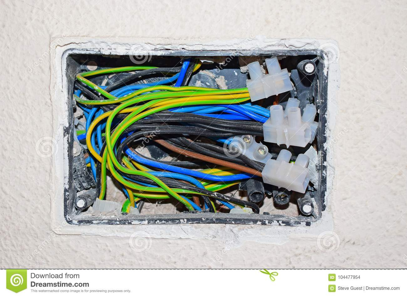 Miraculous Exposed Electrical Wiring Stock Photo Image Of Using 104477954 Wiring Cloud Hisonuggs Outletorg