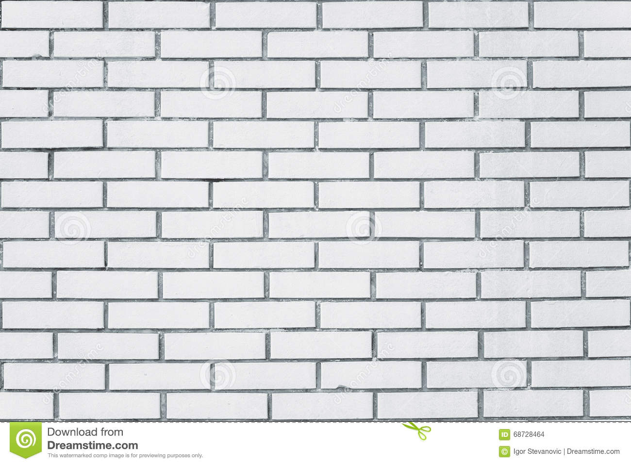 Exposed White Vintage Brick Wall Texture Stock Photo