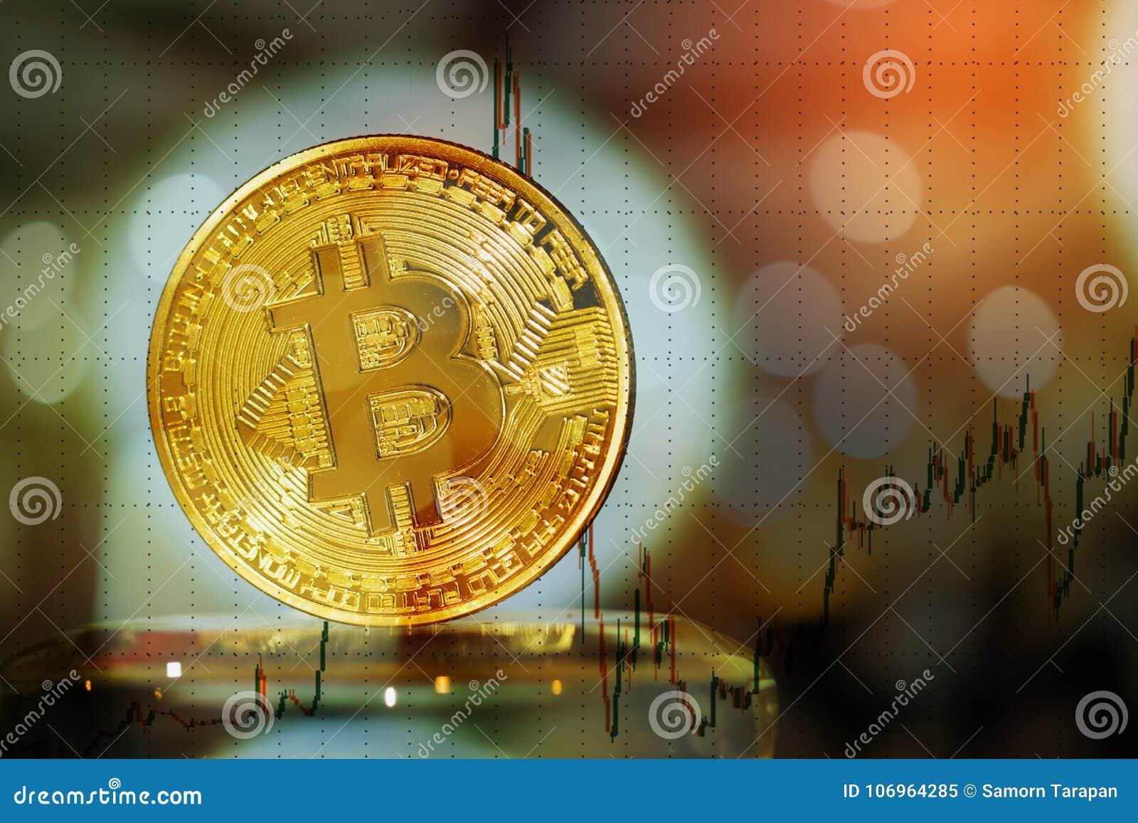 A exposição dobro de Bitcoin, Cryptocurrency é moderna da troca
