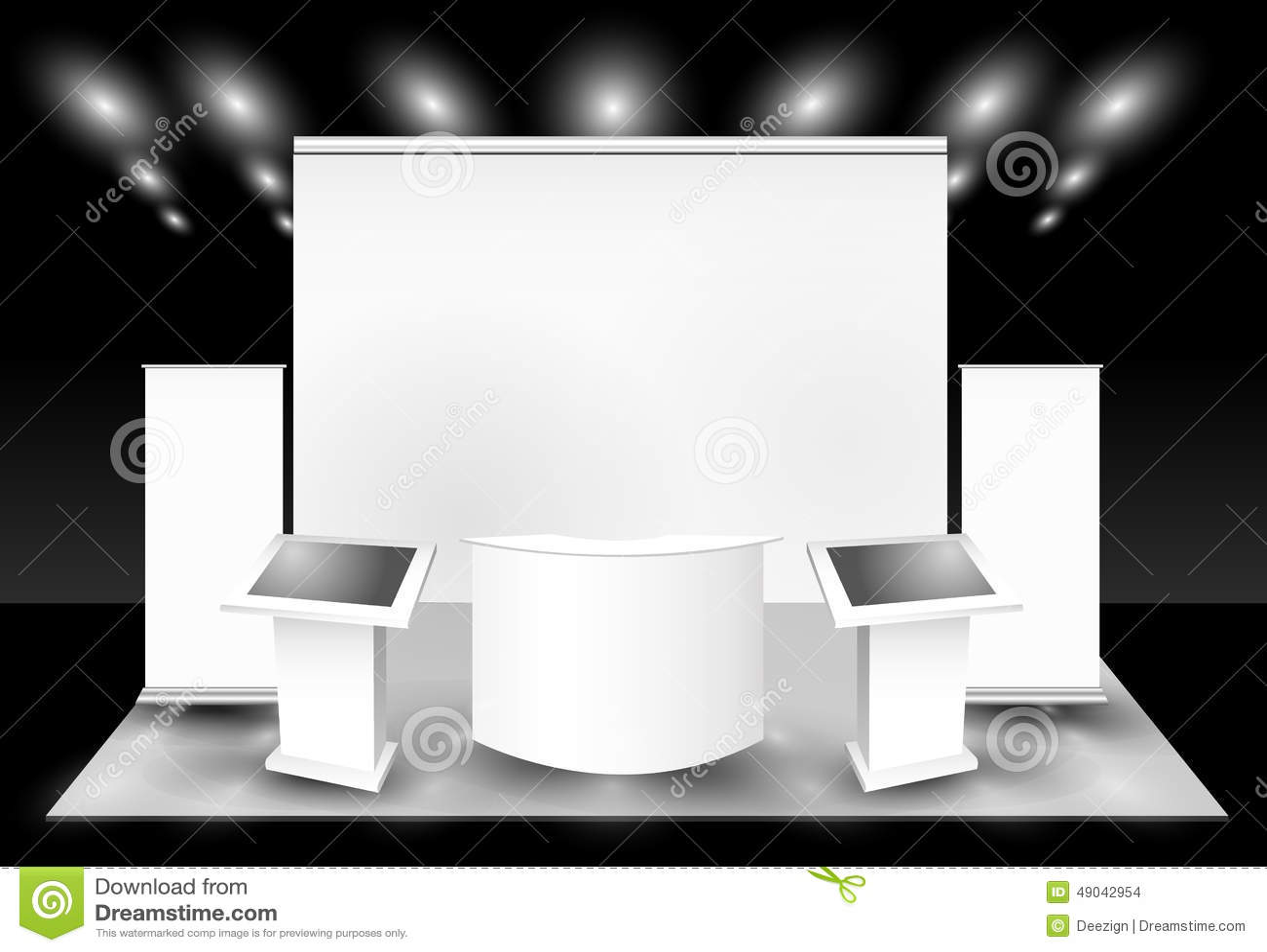 Exposition commerciale blanc