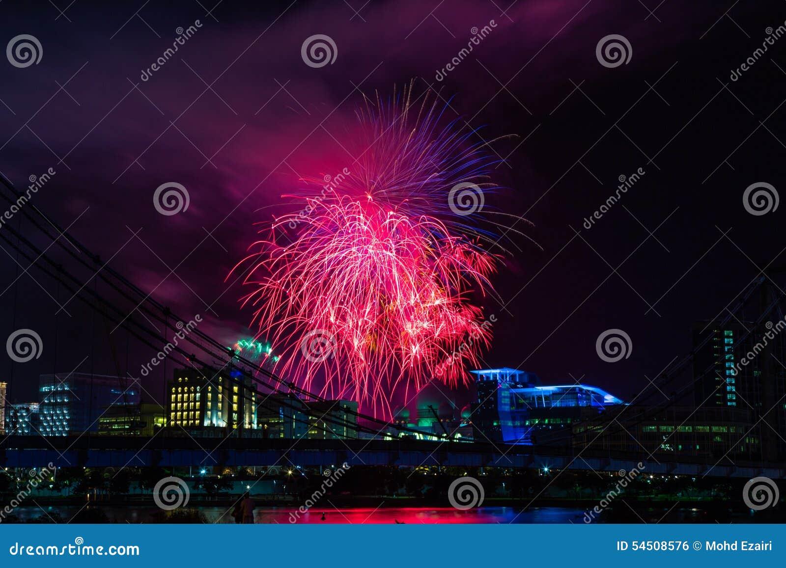 Exposition de feux d artifice de nouvelle année