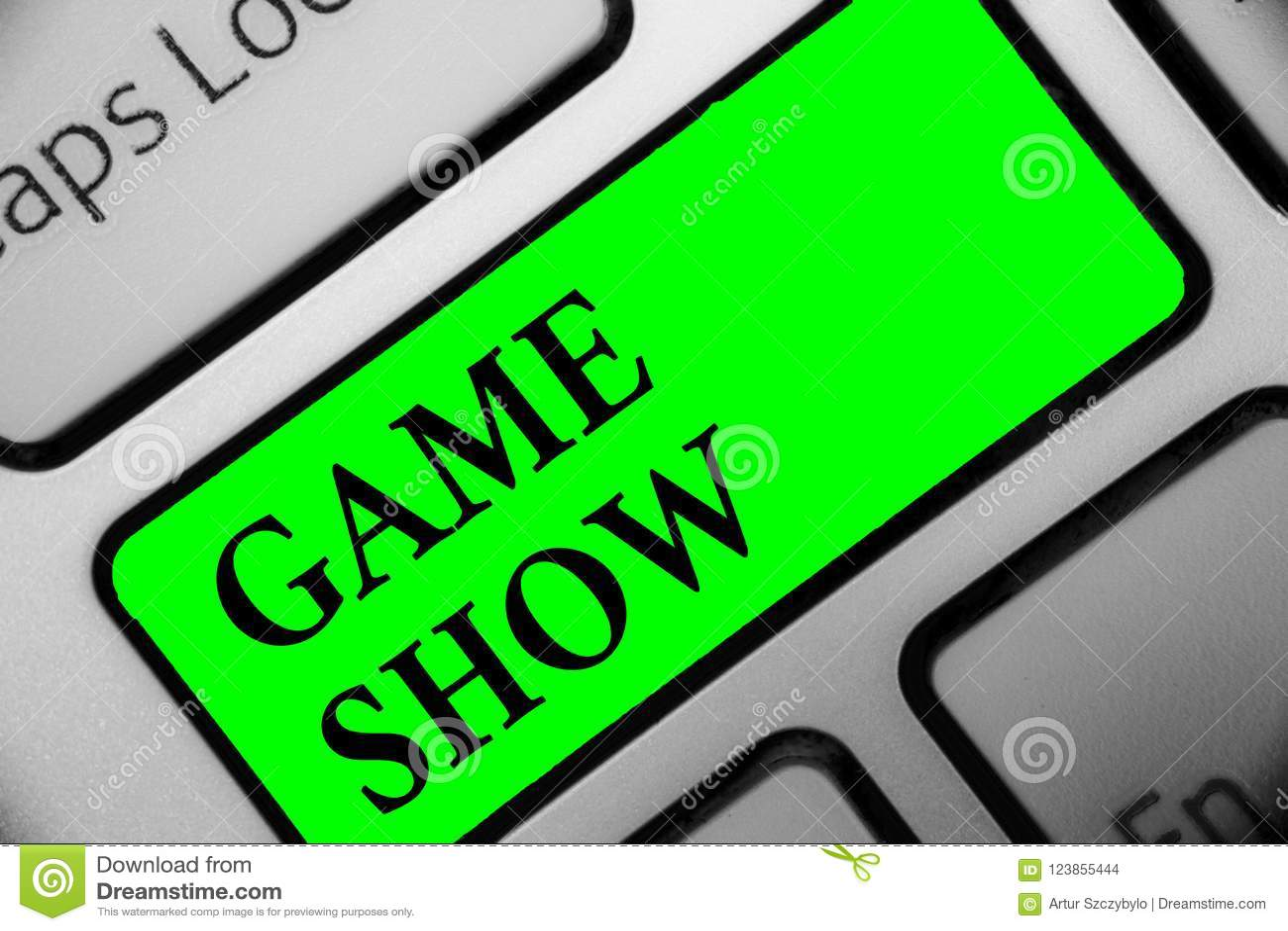 Exposition de jeu des textes d écriture Programme de signification de concept dans la télévision ou la radio avec les joueurs qui