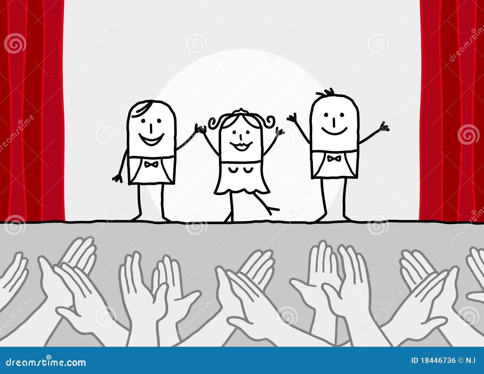 exposition de th tre et mains de applaudissement image libre de droits image 18446736. Black Bedroom Furniture Sets. Home Design Ideas