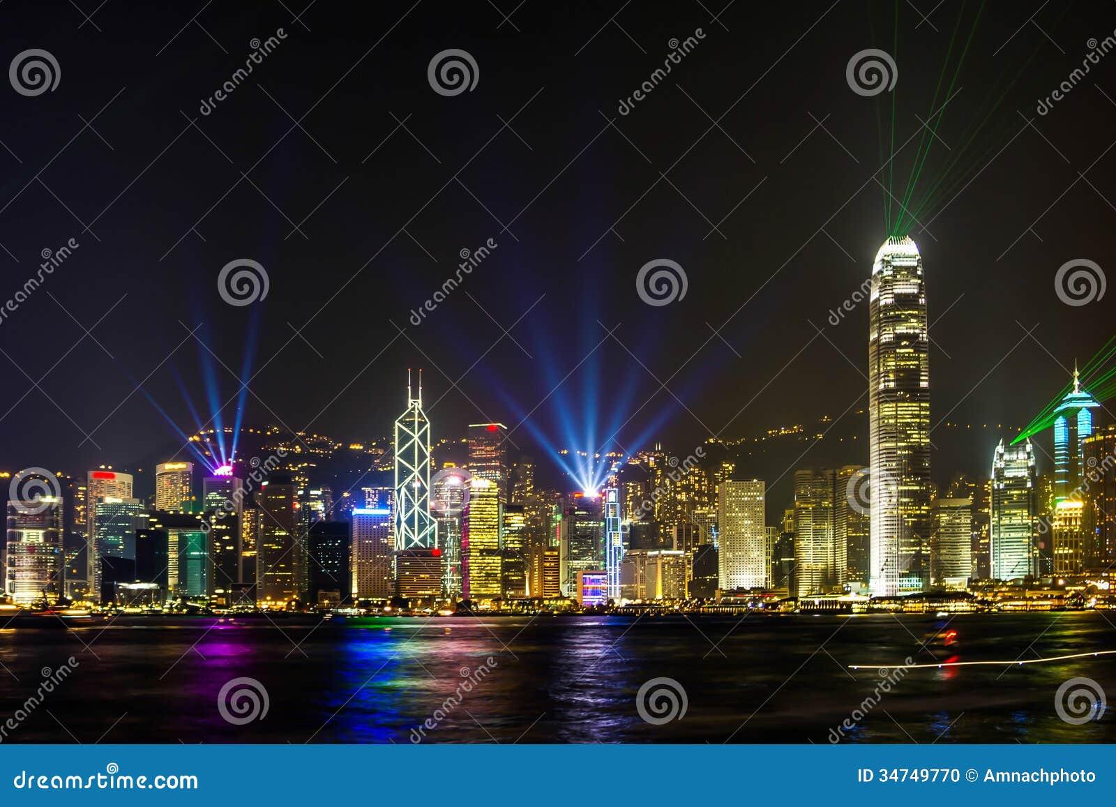 Exposition légère renversante en Hong Kong.