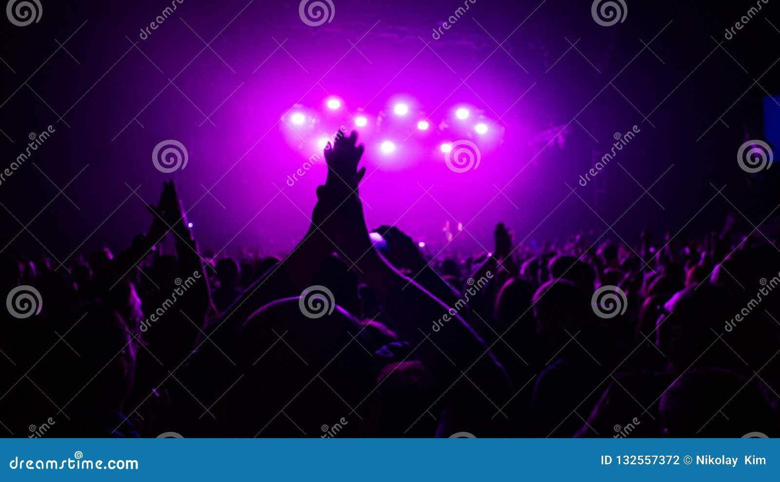 Expressão de um concerto de rocha
