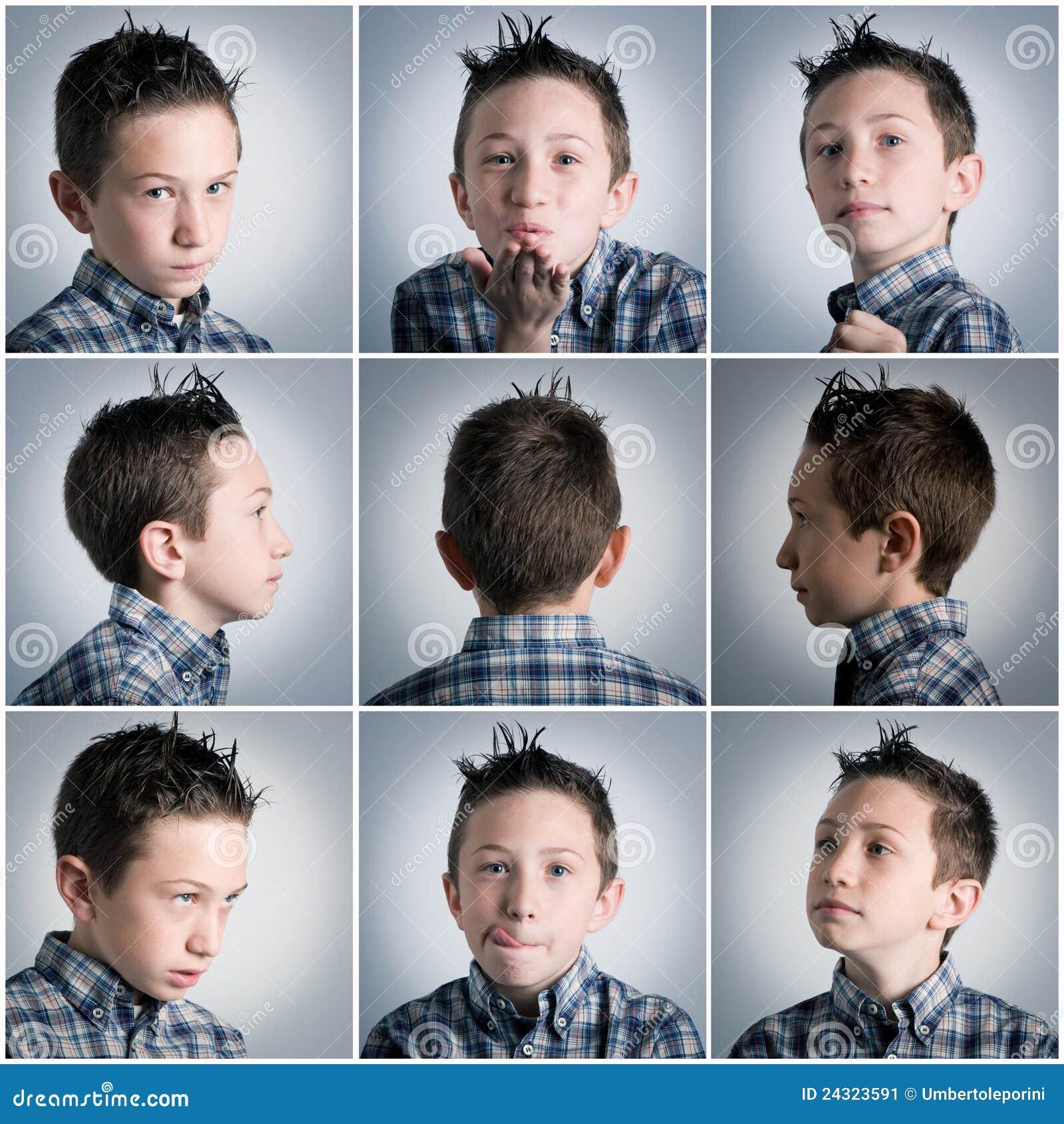 Expressões do menino
