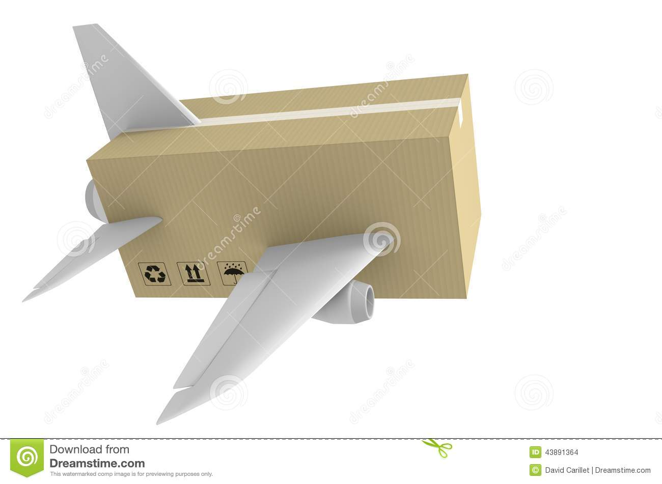 Express Airmail Delivery And Global Shipping Concept Stock
