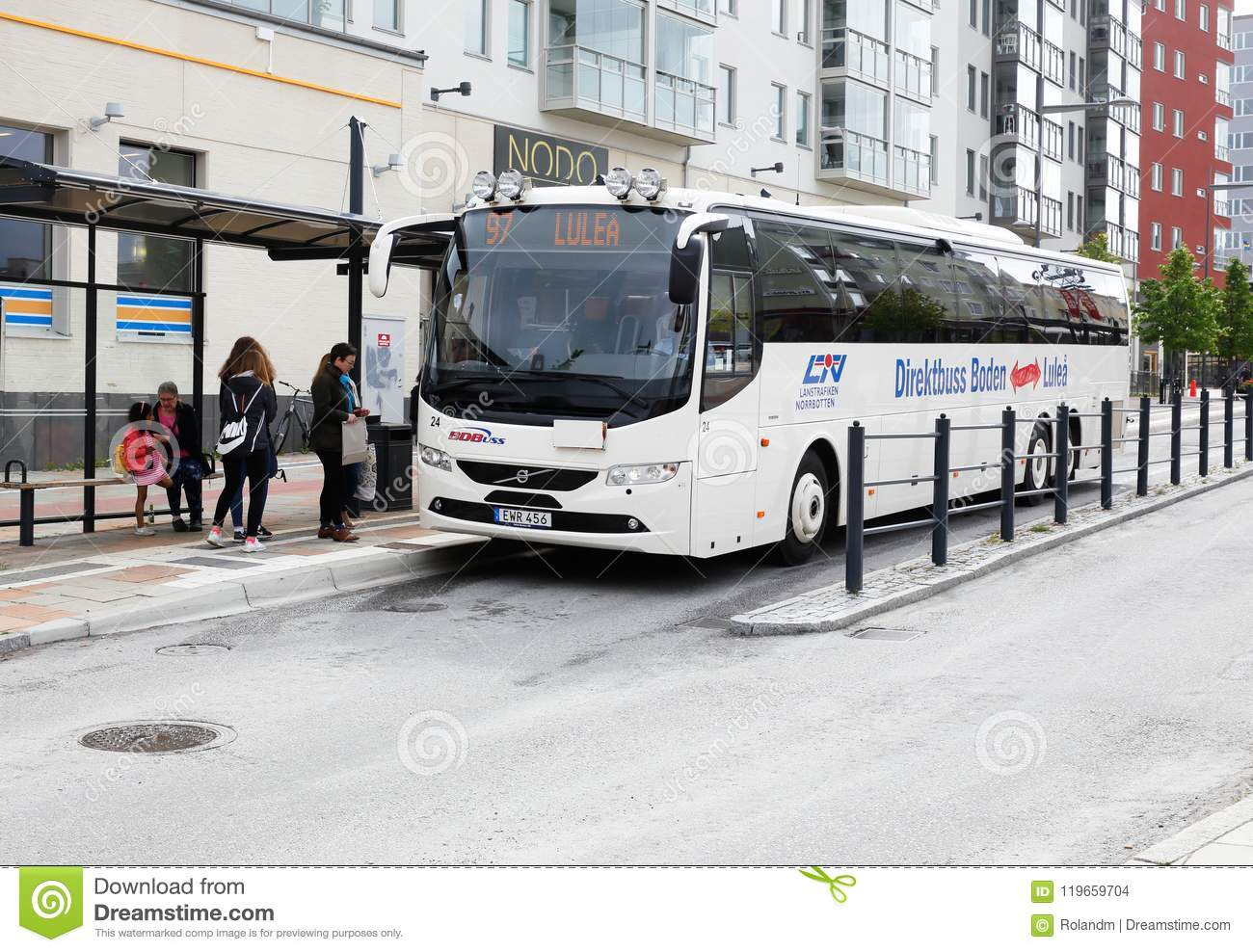 Express bus service in Boden