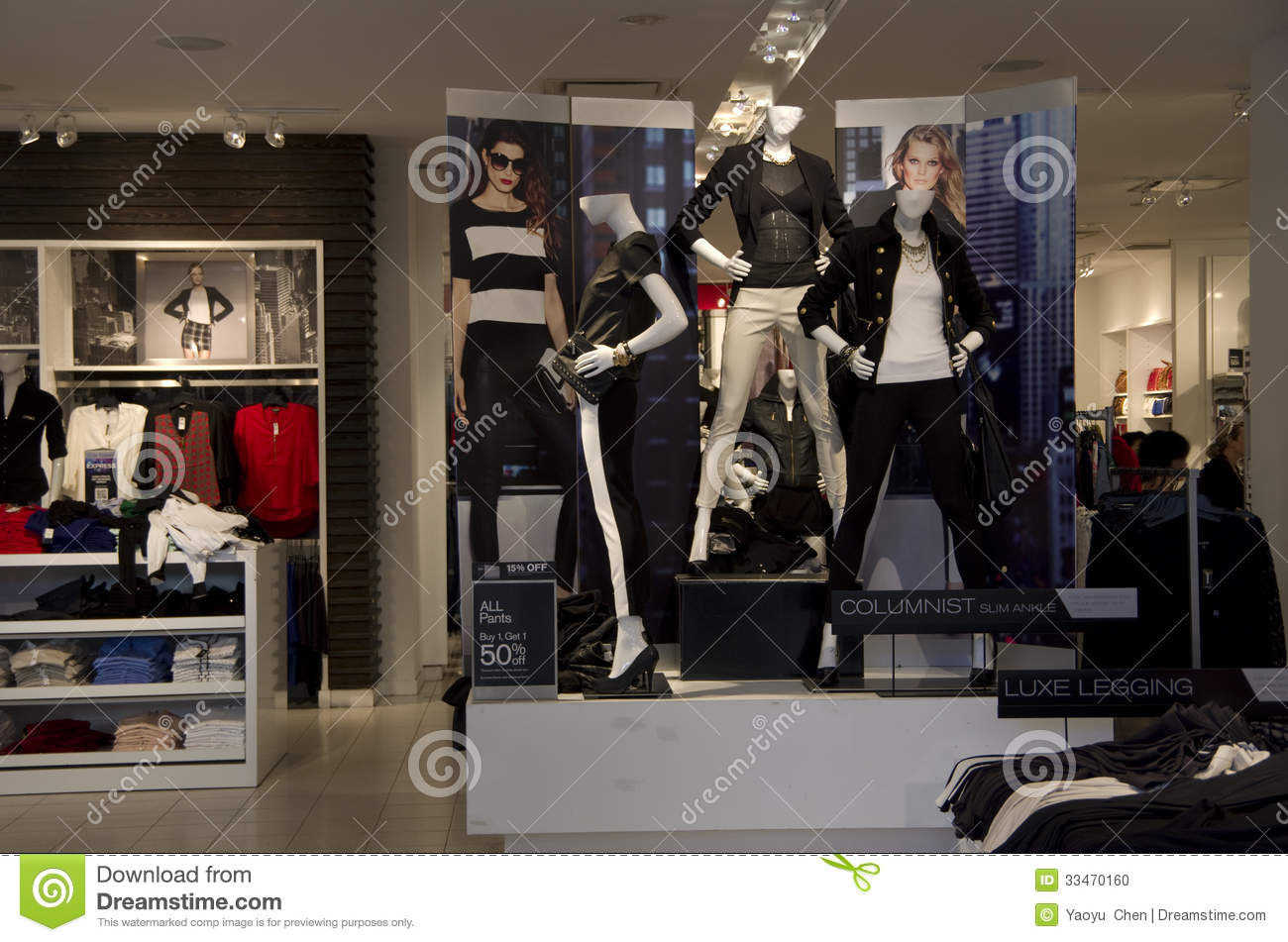 Express Clothing Store Editorial Stock Photo - Image: 33470193