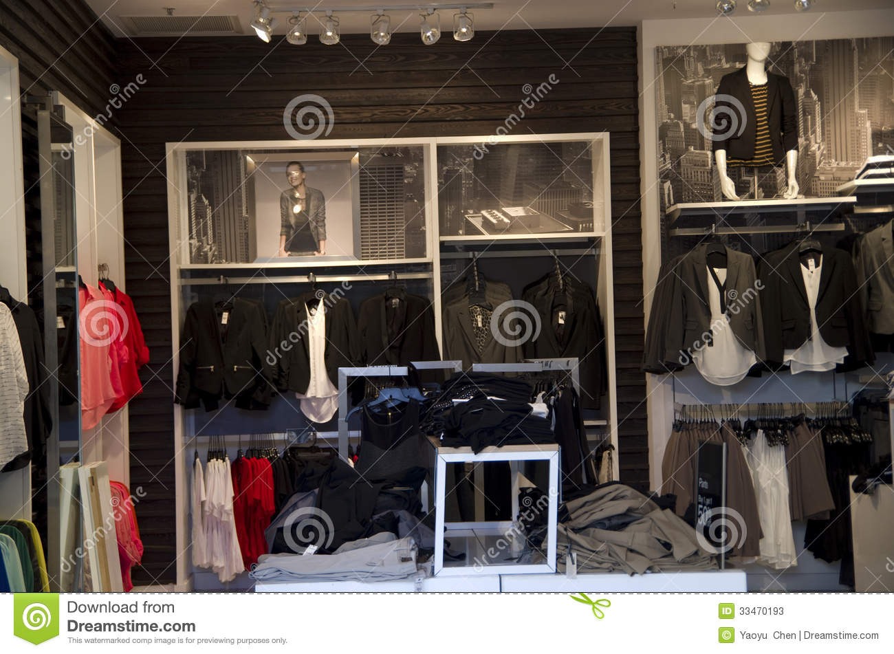 The store is cleverly divided into a women's and men's entrance, making the male customer feel like he's entering a legitimate men's store