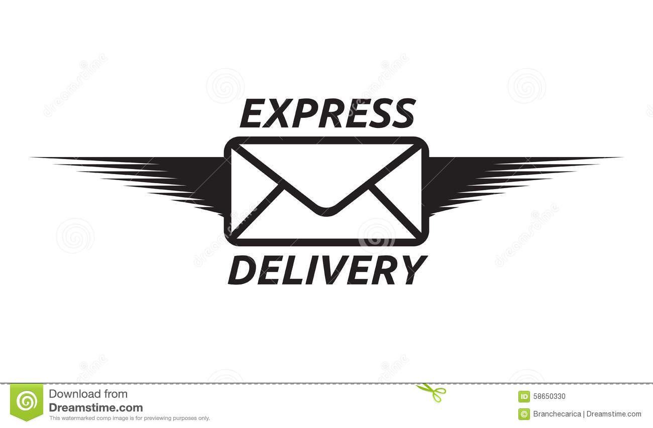 Express delivery icon stock illustration. Image of design ...