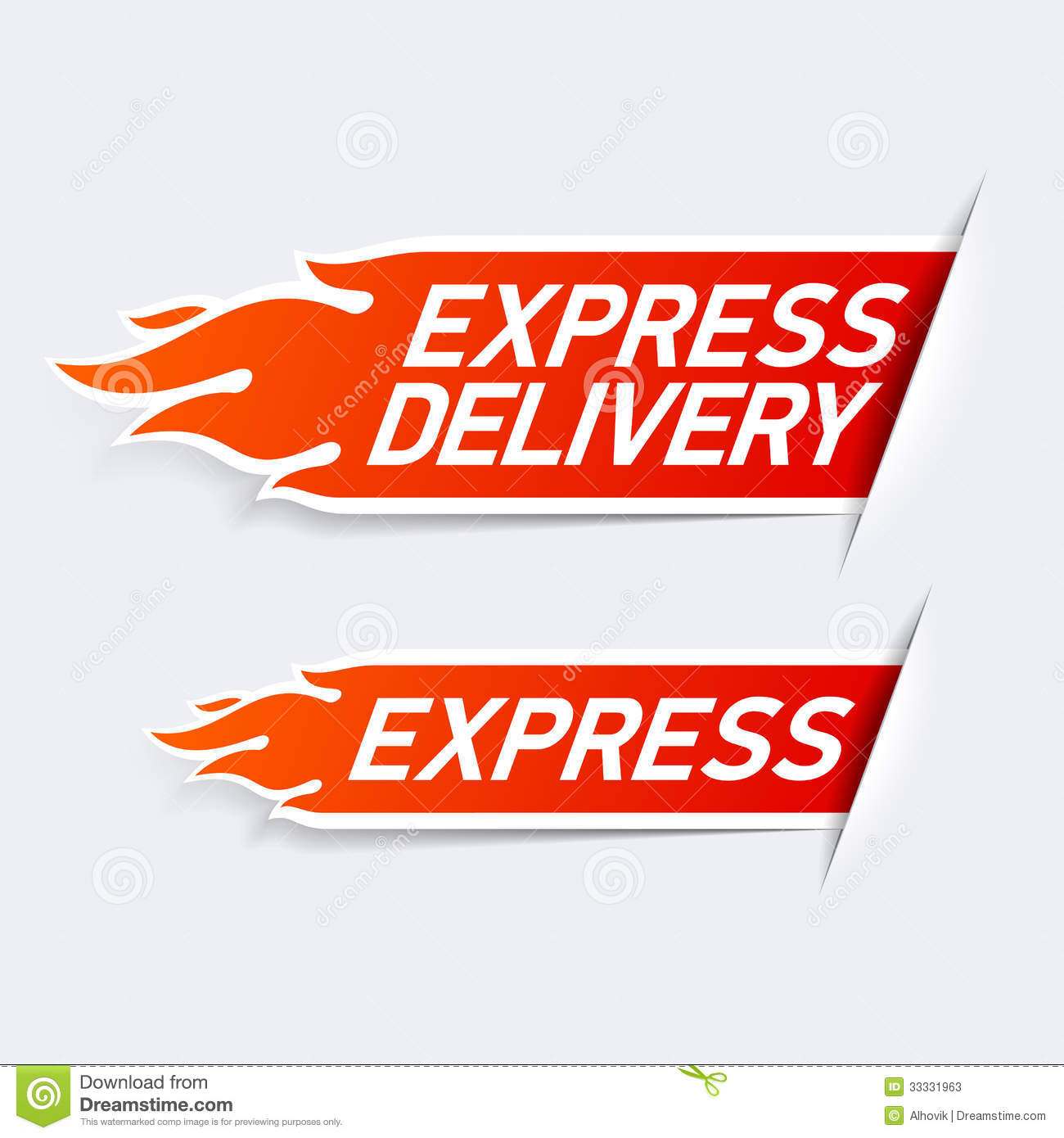 Express delivery stock vector. Image of courier, service ...