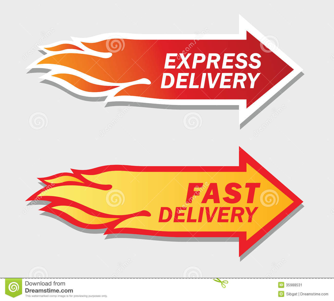 Express And Fast Delivery Symbols. Stock Vector ...