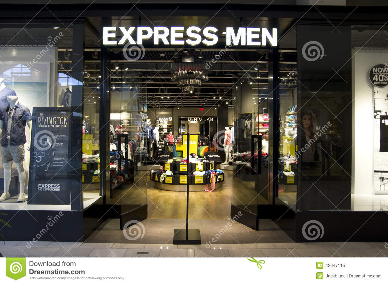 Clothing store men