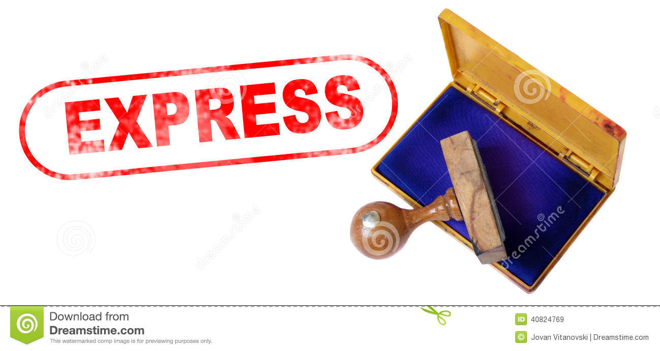 Express - Express Rubber Stamp Royalty Free Stock Images