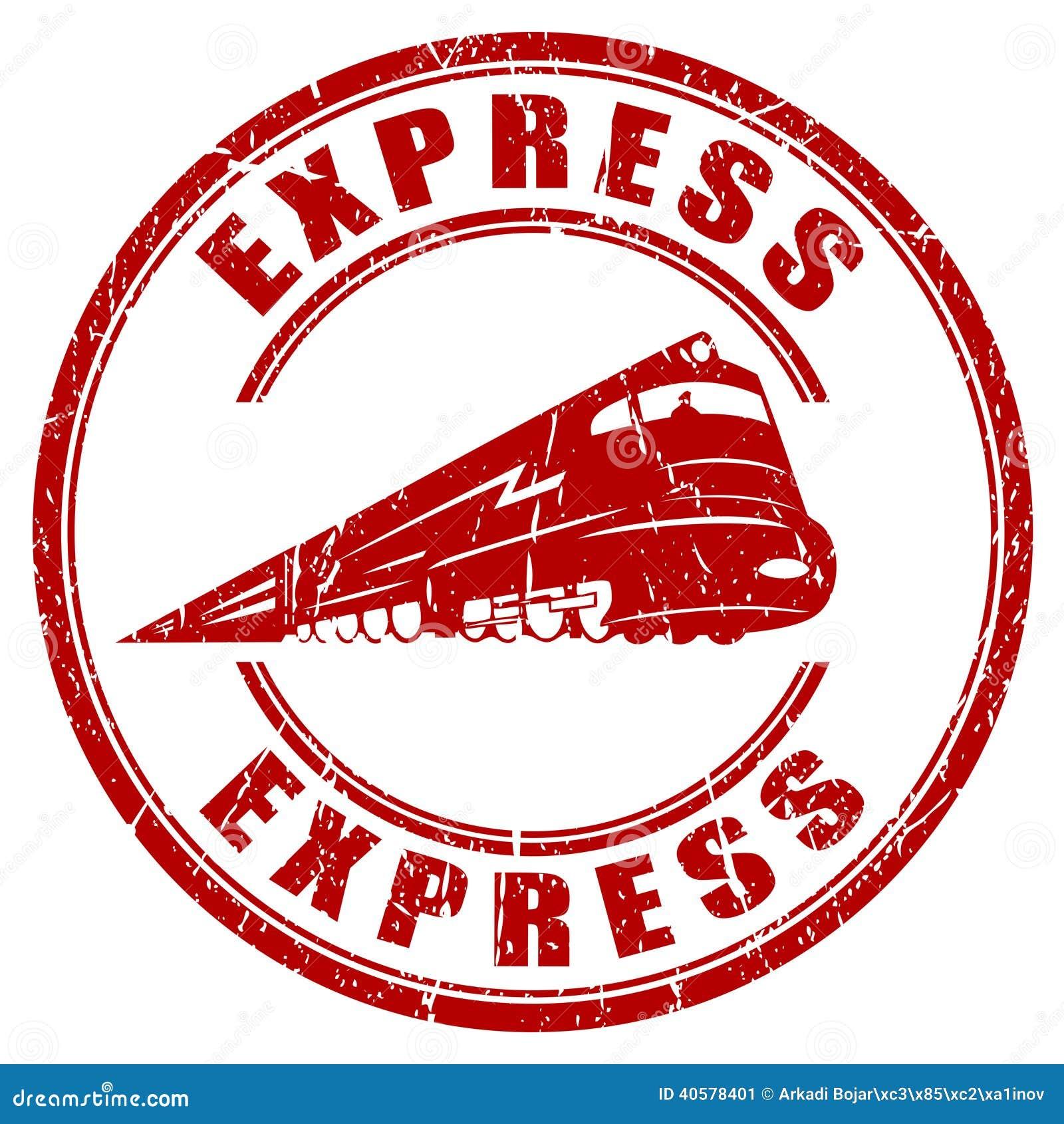 Express - Express Stamp Stock Image