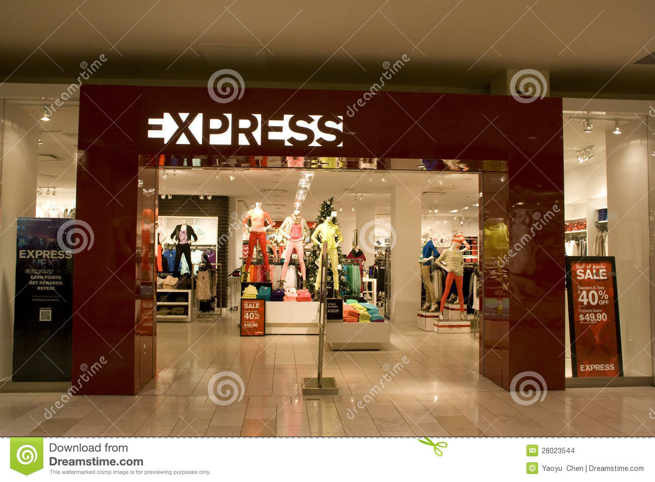 clothing store express is now a dual gender clothing store that