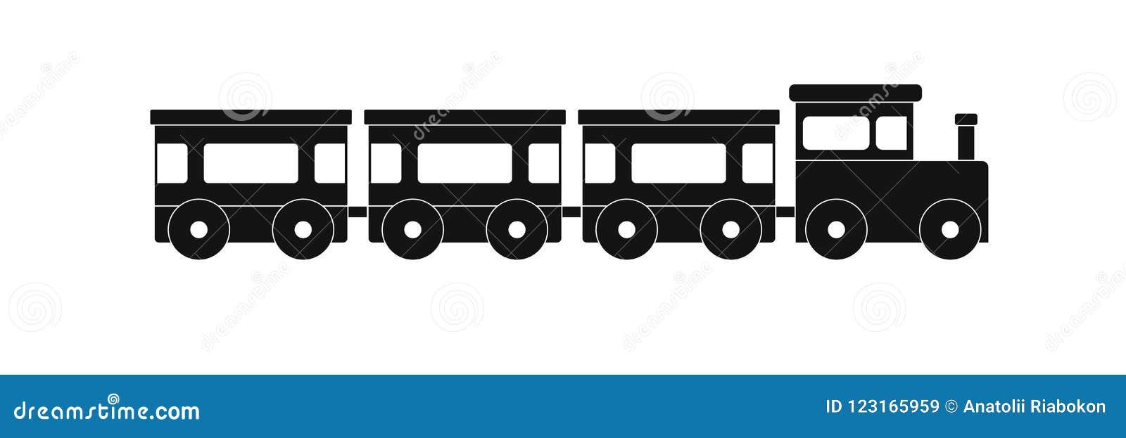 Express Train Icon Simple Style Stock Illustration Illustration