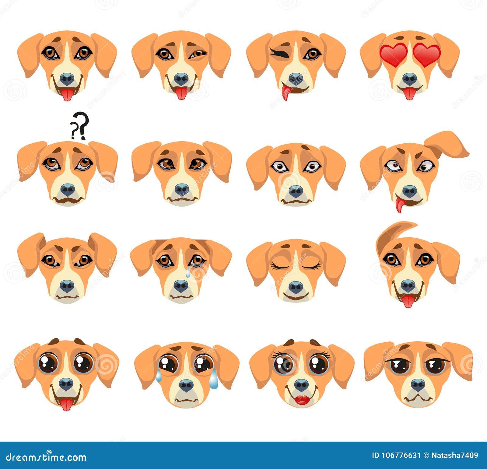 Expression D Emoticone D Emoji De Chien De Golden Retriever Illustration De Vecteur Illustration Du Golden Chien 106776631