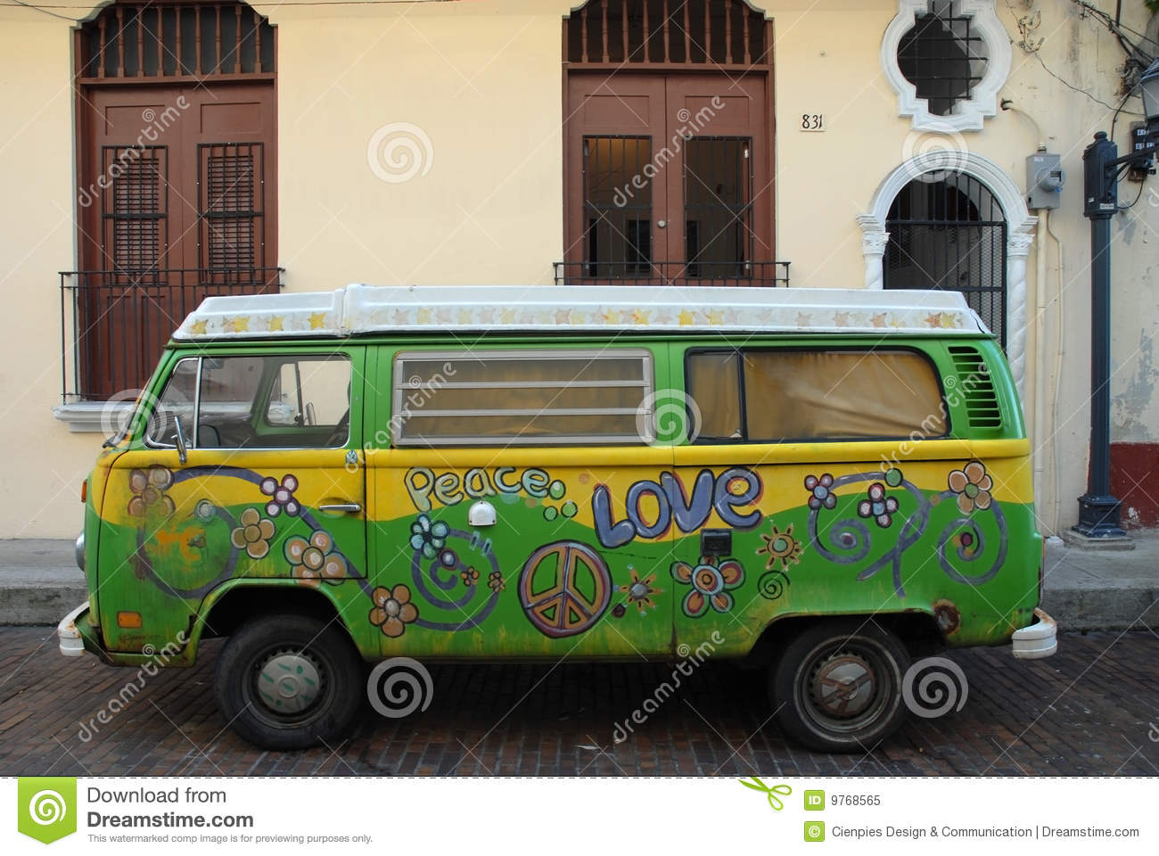 Expression d amour. Hippie Van