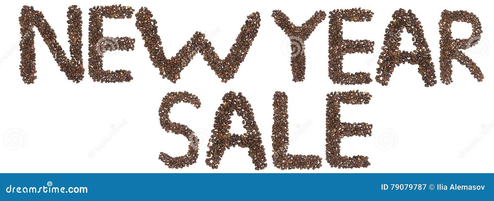 Expression de vente de nouvelle année faite d écrous de cèdre