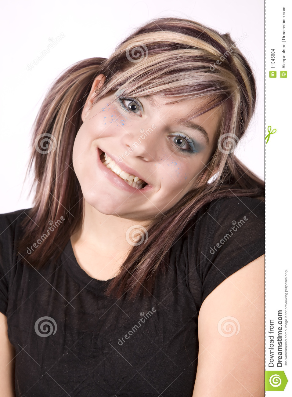 Expression Girl Happy Head Tilted Stock Photo - Image of ...