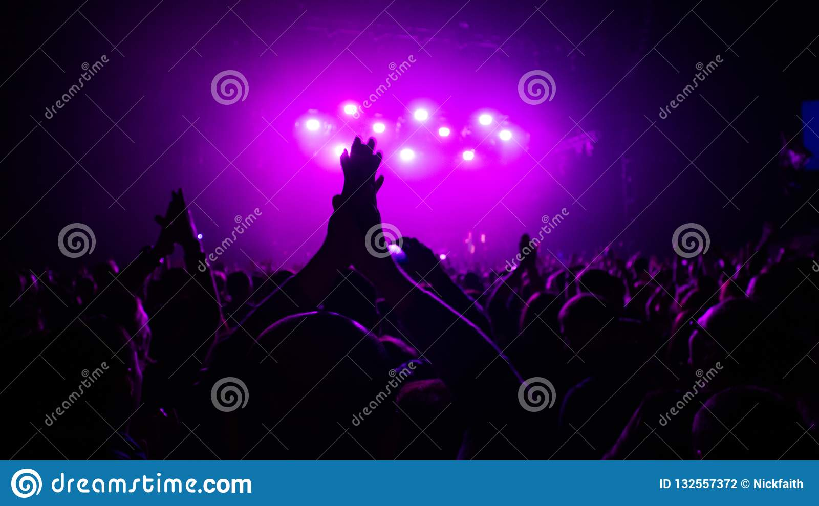 Expression from a rock concert