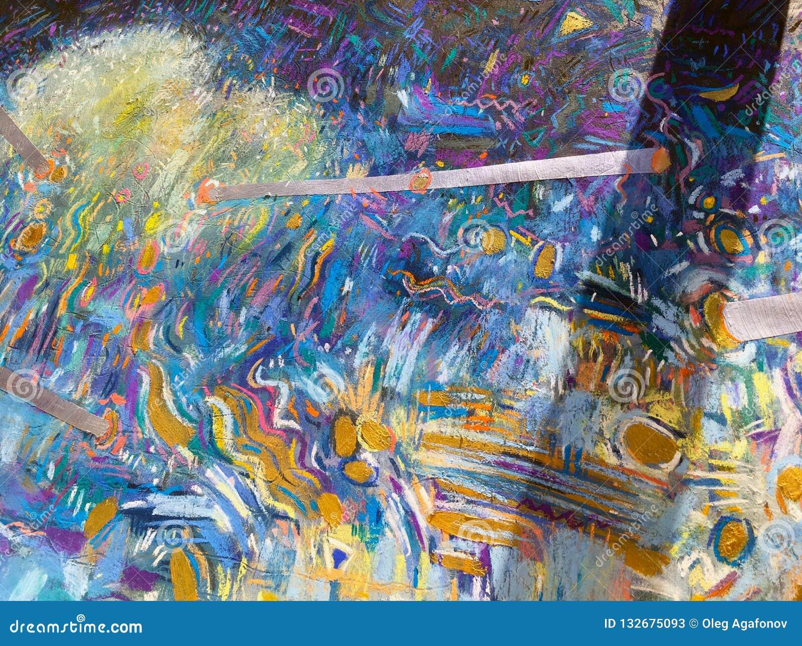 Expressionism χρυσό υπόβαθρο ουρανού Καθιερώνουσα τη μόδα σύσταση ζωγραφικής