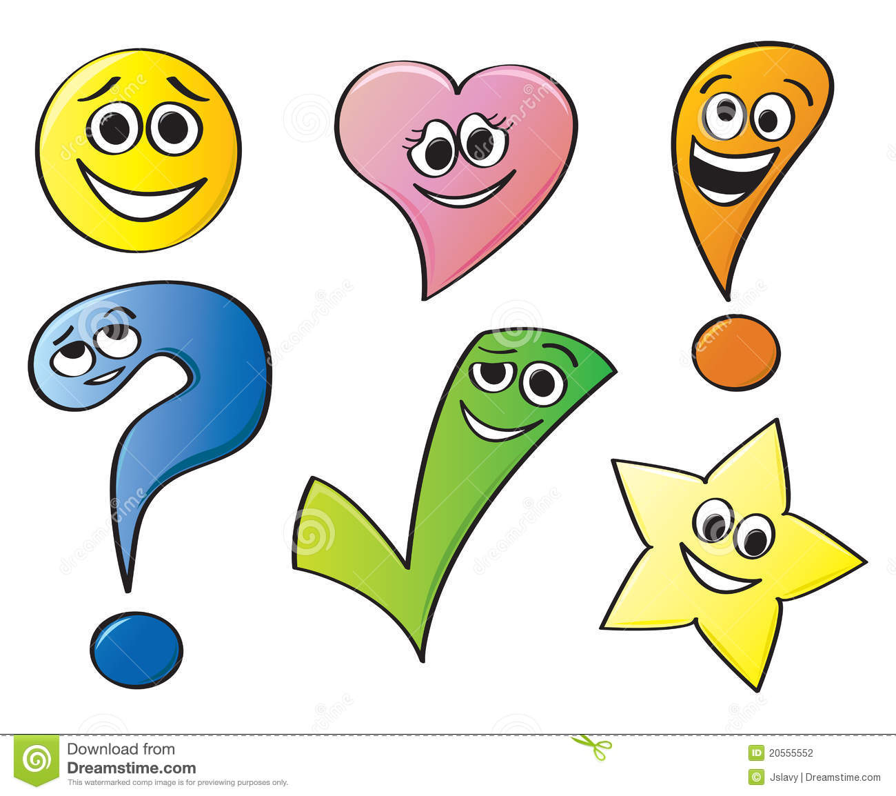 Expressive Cartoon Shapes Stock Vector. Image Of Animated