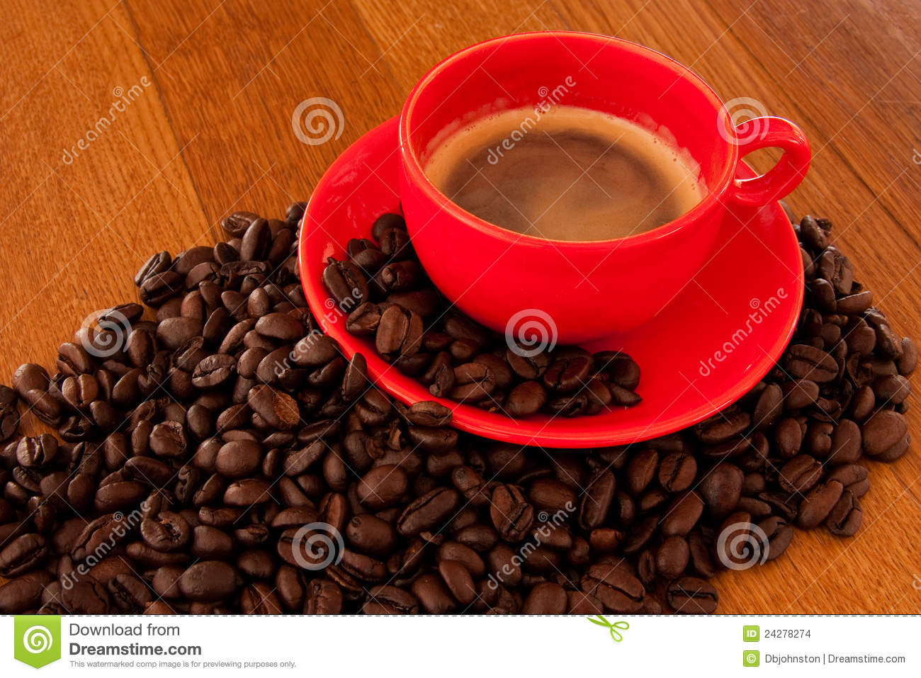 Expresso coffee in red cup